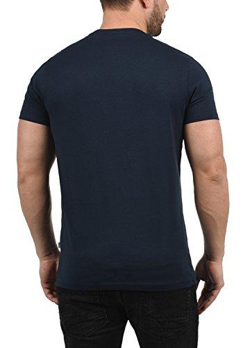 Da Uomo Insignia Con solid T Taschino Girocollo York Corte Maniche Magliette Blue shirt 1991 A Stampa zwfvqH