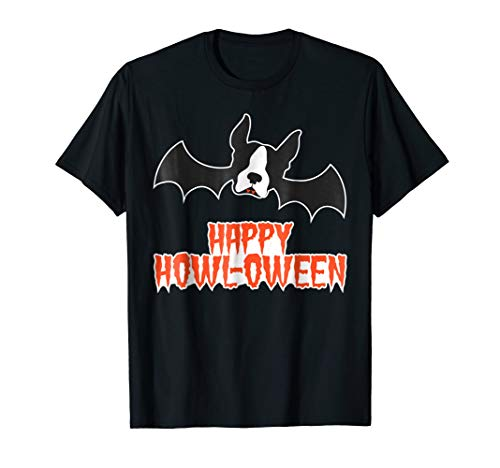 (Cute Halloween Costume Dog T-Shirts Boston Terrier)