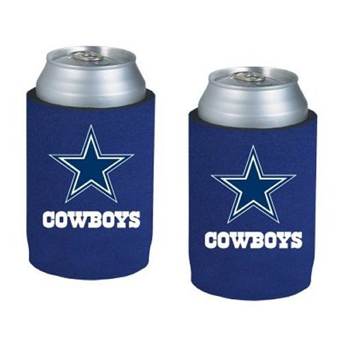 NFL Football Can Insulators - Neoprene Beer Can Kolder Holders, Set of 2 (Nfl Beverage Cooler)