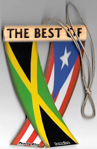 Puerto RICO and Jamaica Boricua Jamaican Caribbean Flag Rear View Mirror Hanging CAR Flags Mini Banners for Inside The CARUNITY FLAGZ
