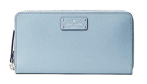 Kate Spade Grove Street Neda Women's Zip Around Leather Wallet (Blue Dawn)