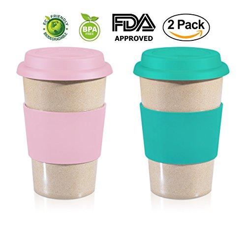 16oz ValuePack Sea Green + Pink 100% Organic EcoFriendly Reu
