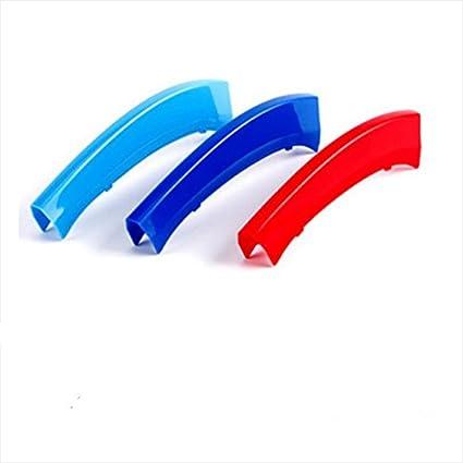 3 colores 3D Parrillas Parrilla delantera Trim Strips Cubierta rendimiento Decoración Pegatinas para X3 X4 F25 F26