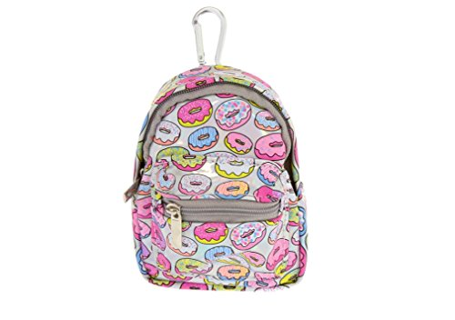 Claires Holographic Donut Mini Backpack Keyring Coin Purse