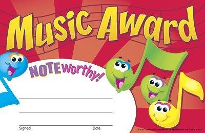 30 x Music Award Certificates by TREND ENTERPRISES INC.