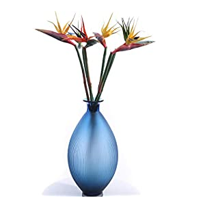 Skyseen 2PCS Artificial Flowers Strelitzia Stems Real Touch Bird of Paradise Spray 33.9'' 104