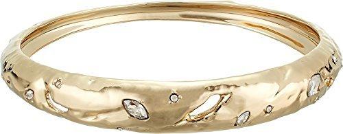 Alexis Bittar Women's Skinny Tapered Rocky Metal Bangle Bracelet 10k Gold One Size