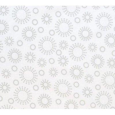 SheetWorld Fitted Cradle Sheet - Grey Dot Circles - Made In USA by SHEETWORLD.COM