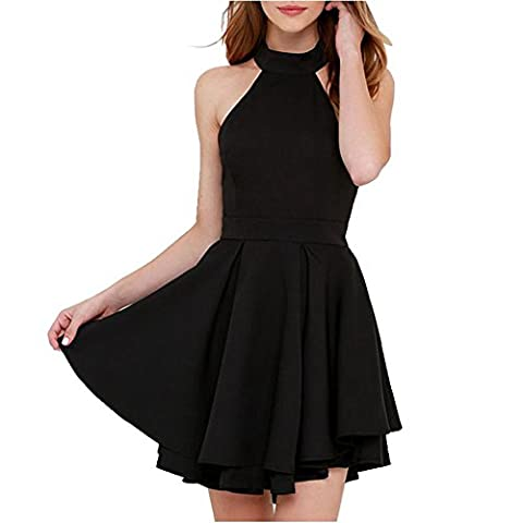 You Star Women A-line Dress Fashion New Backless Sexy Off Shoulder Mini Party Dress Black M - 9 Glasgow Long Body