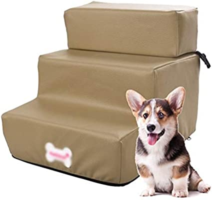 SHIJINHAO Escalera para Mascotas, Pasarela De Mascotas 2/3 Pasos PU Impermeable Esponja Dura Escalera Plegable Escalera De Cama Auxiliar Artículos para Mascotas, 5 Colores.: Amazon.es: Hogar