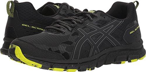 (ASICS 1011A045 Men's Gel-Scram 4 Running Shoe, Black/Black, 10 M US)