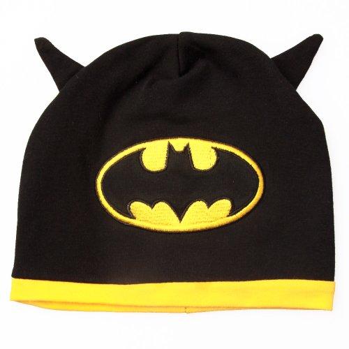 Batman - Baby Infant Hat with Logo and Bat (Baby Batman Costumes)