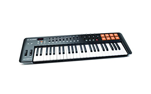 M-Audio Oxygen 49 MKIV | 49-Key USB MIDI Keyboard & Drum Pad Controller (8 Pads / 8 Knobs / 9 Faders), VIP Software Download Included ()