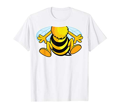 Funny Bee Costume Easy Shirt - Honeybee Halloween Cheap Gift -