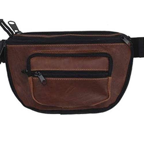 Small DTOM Concealed Carry Fanny Pack Buffalo/Bisson Leather