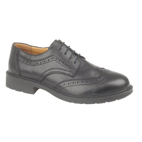 Amblers Safety Mens FS44 Leather Slip Resistant Brogues Schwarz