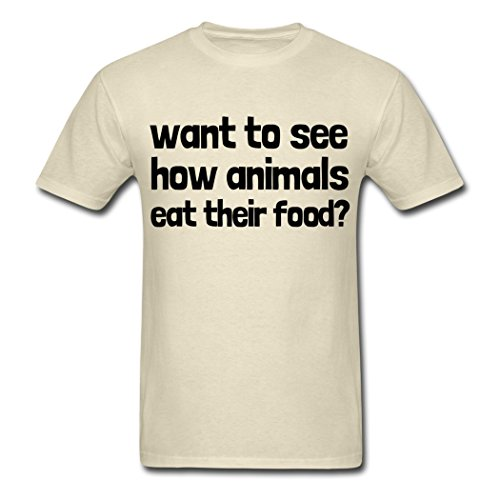OneceMore Want To See How Animals Eat Their Food mens t-shirt 2016 new style XL