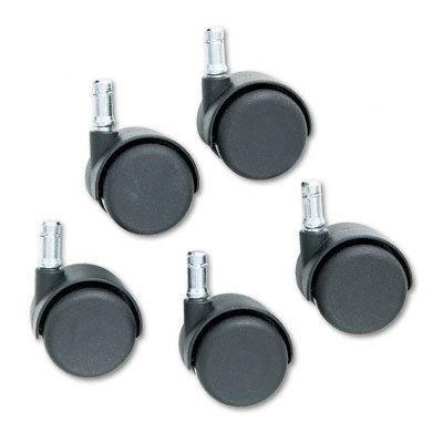Master Caster(tm) 64234 - Doublewheel Nylon Casters, Flat Stem, Matte Black, Five per Set (Casters Flat Stem Matte)