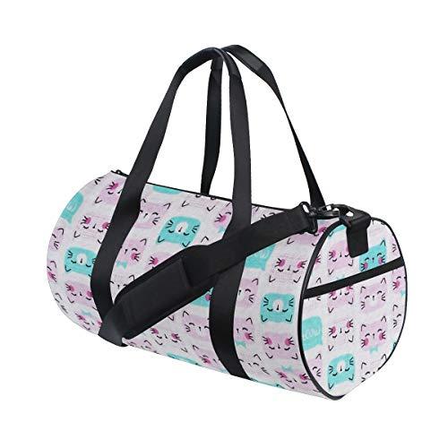Cutie Pie Cat Pink Duffel Bag Sports Gym Bag Travel Weekender Bag For Men and Women