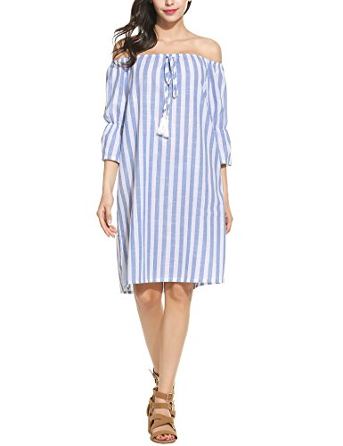 Buy light blue ruffle dress - 3