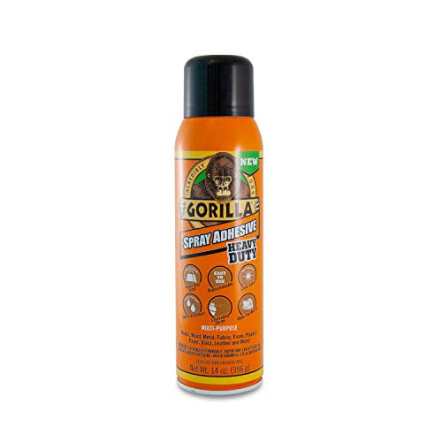 Gorilla Heavy Duty Spray Adhesive, Multipurpose and Repositionable, 14 ounce, Clear