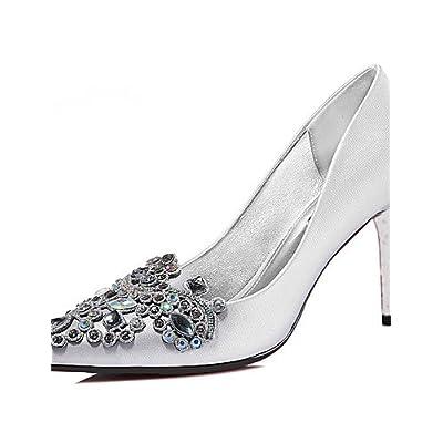 Ggx femme Chaussures Paillettes Printemps été automne hiver talons Mariage  fête   Soirée décontracté Escarpin Noir argent 7596afe4893a