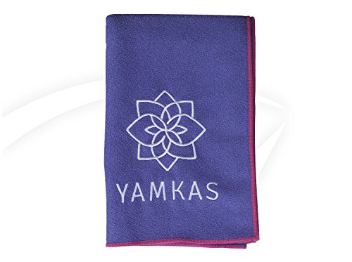 YAMKAS microfiber hot yoga towel - Perfect for bikram yoga towel, CHOOSE YOUR COLOUR, Non slip, skidless if dampened - ultra absorbend, machine washable - Fast drying, 100% Satisfaction Guarantee!