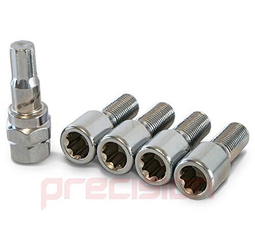 Precision Slim Fit Tuner Locking Alloy Wheel Bolts for /Àudi S5 RS5 PN.SFP-B14TK124