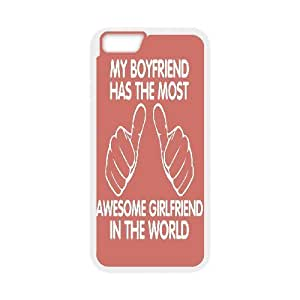 """AKERCY Best Girlfriend in the world Phone Case For iPhone 6 Plus (5.5"""") [Pattern-3]"""
