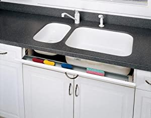 Rev A Shelf 6542 11 11 52 Tip Out Sink Front Trays With Hinges    Polymer White
