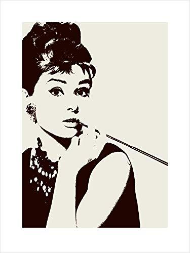 60 x 80 cm Audrey Hepburn 48495 PPR40086 Audrey Hepburn Cigarello Stampa