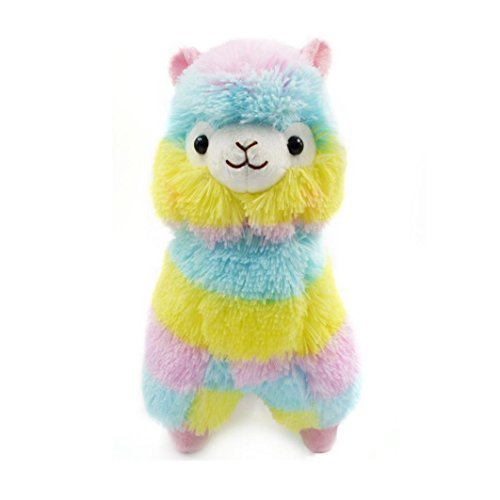 Muxika 13CM Colorful Alpaca Llama Arpakasso Soft Plush Toy Doll Gift Cute Toys (Colorful)