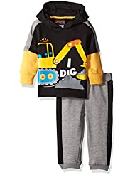 Boyzwear Baby Boys' 2 Piece Hooded Fleece and Pant Set