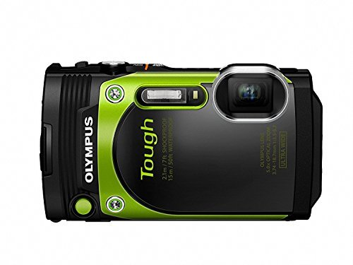 220 Digital Camera - Olympus TG-870 Tough 16MP Waterproof Digital Camera with 5X Optical Zoom, FHD 1080P Video, Tilting LCD, Built-in Wi-Fi & GPS (Green)