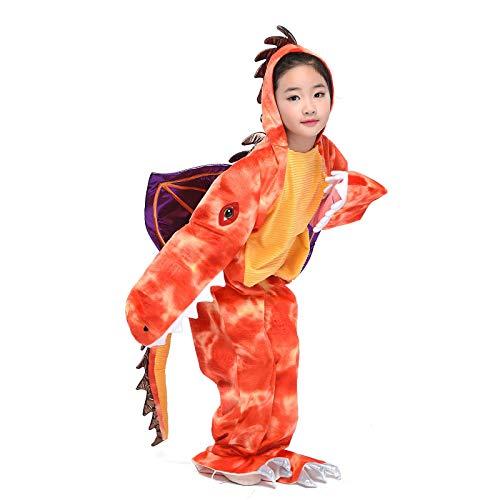 (Kid Dinosaur Costume Child Medieval Fire-Breathing Dragon Jumpsuit Halloween Fancy Dress Cosplay (Dinosaur,)