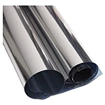 SODIAL(R) 2M Silver Solar Reflective Window Film Paper Insulation Stickers One Way Mirror