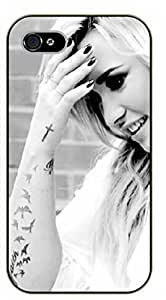 iPhone 4 / 4s Sexy girl - Demi Lovato - black plastic case / Verses, Inspirational and Motivational A