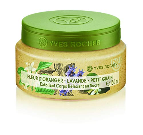 Yves Rocher Les Plaisirs Nature Relaxing Sugar Body Scrub - Orange Blossom Lavender Petitgrain, 150 ml./5 fl.oz.