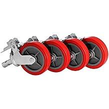 Plate 3-1//8 x 4-1//8 3 x 1-1//4 Swivel Caster Bolt Holes 3-1//8 x 2-1//4 GL 312 UPE Schioppa L12 Series 3 x 1-1//4 Swivel Caster Plate 3-1//8 x 4-1//8 Non-Marking Polyurethane Precision Ball Bearing Wheel Bolt Holes 3-1//8 x 2-1//4 175 lbs