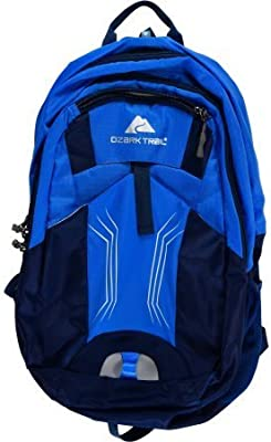 Amazon.com : OZARK TRAIL - 25L Stillwater Daypack, Durable Polyester Blend, Multiple Compartments, Great for Hiking, Camping and Biking : Sports & Outdoors