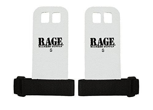 Rage Fitness Leather Hand Grips, The Original Palm Grip, Gymnastics, Weightlifting, Kettlebell, Barbell, Pull-ups, Chin-ups Training, Made in USA ()