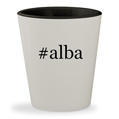#alba - Hashtag White Outer & Black Inner Ceramic 1.5oz Shot - Jessica Alba Glasses