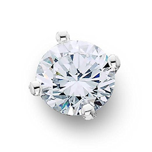 1/4ct Single Diamond Single Stud 14K White Gold (Single Diamond Stud Earring)