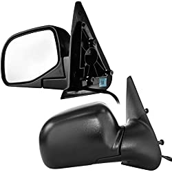 Dependable Direct Driver and Passenger Side Textured Folding Door Mirrors (Pair) for 98-05 Ford Ranger