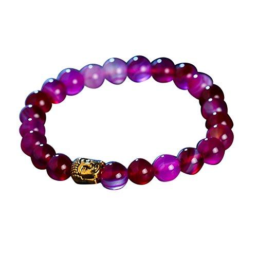 Teresamoon Bracelet Lava Stone Bead Bracelets (hot pink)
