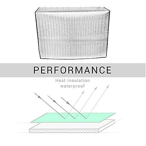 EisEyen Au/ßenklimaanlage Klimaanlage Abdeckungs wasserdichter Klimaanlagen Staubschutz f/ür Haus Aluminiumfolie,Anti-Aging,Energieeinsparung