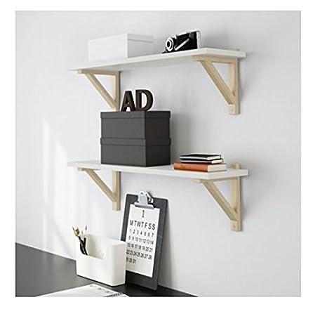 Amazon.com: IKEA – EKBY VALTER Madera selves Bracket ...