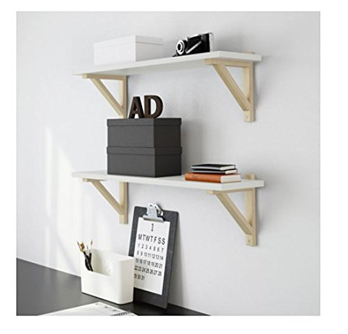 IKEA Ekby Valter Wood Shelves Bracket X2 Depth 7-Inch Birch