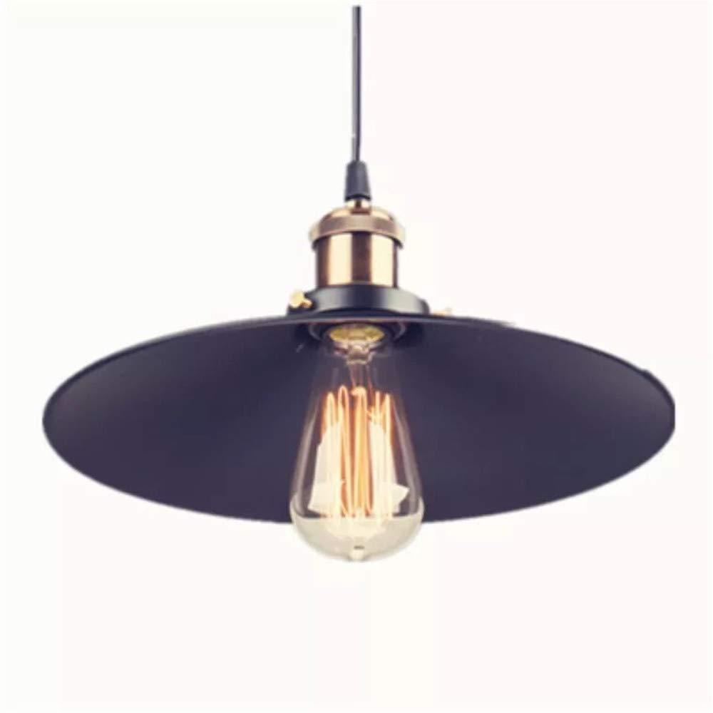 Schwarz 22×22×20cm Beleuchtung Innenbeleuchtung Schlafzimmer Wohnzimmer Cafe Bar Schmiedeeisen Retro-Kronleuchter, 22 × 22 × 20 cm, schwarz
