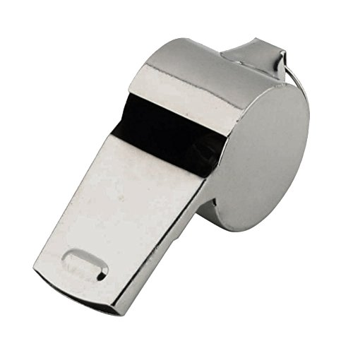 Novelty Silvertone Whistle Police Sports Costume Prop -